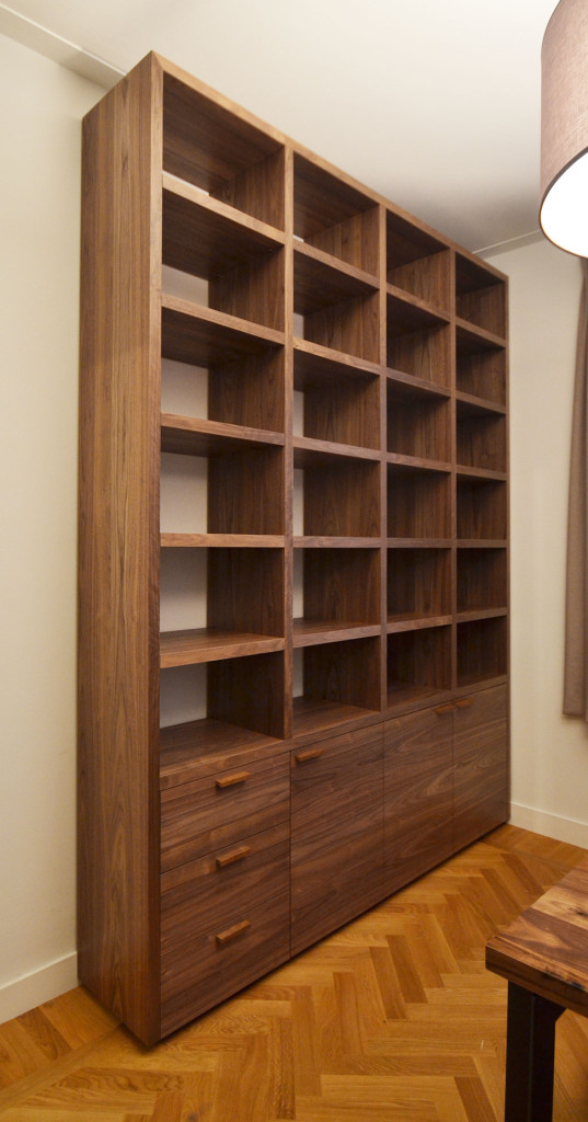 bookcase, American walnut