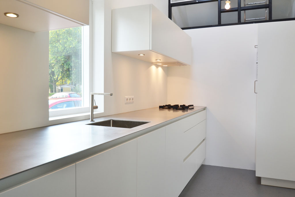 minimalistic white kitchen
