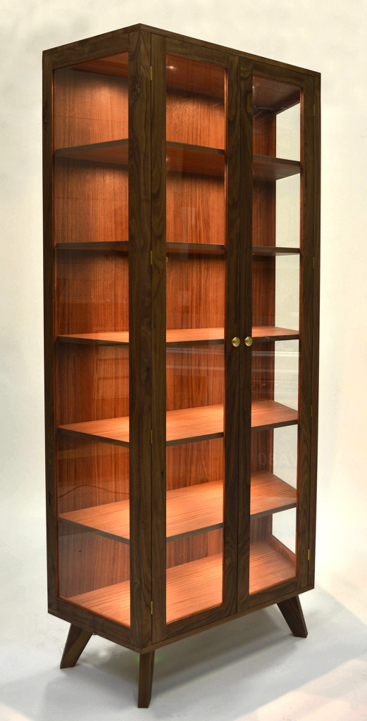 display cabinet of walnut