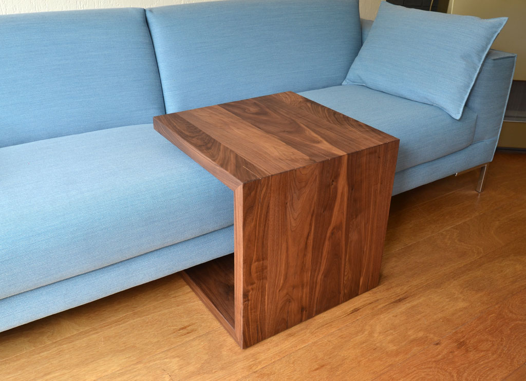 Occasional table to slide over the sofa