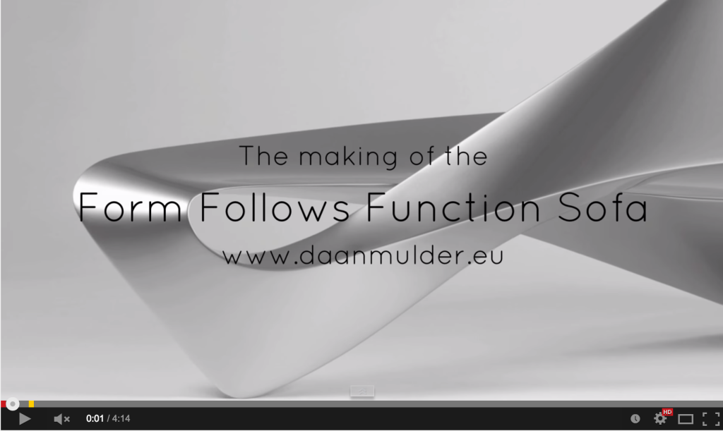 Film about the making of the Form Follows Function Sofa